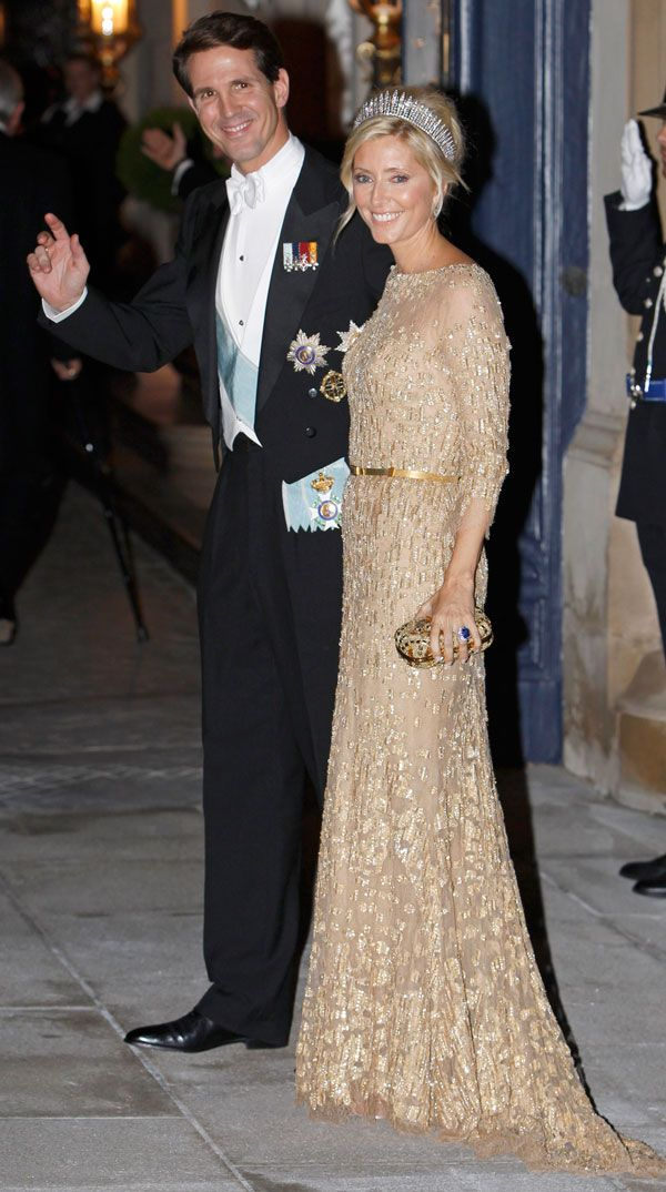 Crown Prince Pavlos and Marie-Chantal of Greece at the royal wedding in Luxembourg