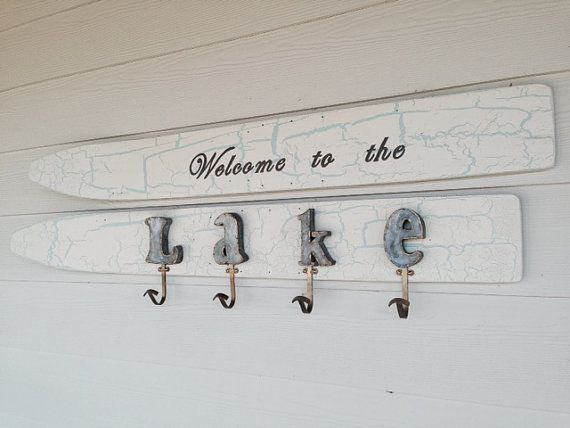 Vintage Water Ski Wall Art by JiltedTimber on Etsy
