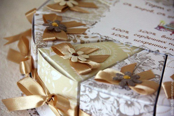 http://4needlework.ru Бумажный торт с пожеланиями