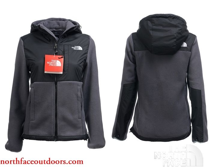 North Face Hoodie Jacket For Women High Quality TNF Black Gray.cheap site  to buy Northface