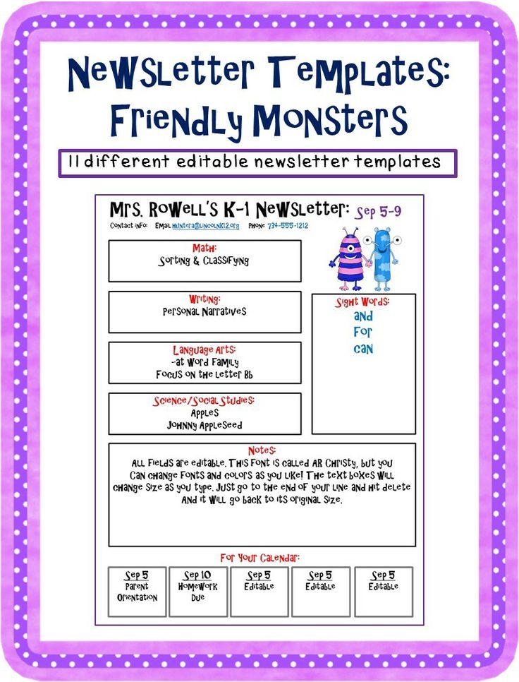 40 best Sensational Second Grade Spelling images on Pinterest - preschool newsletter template