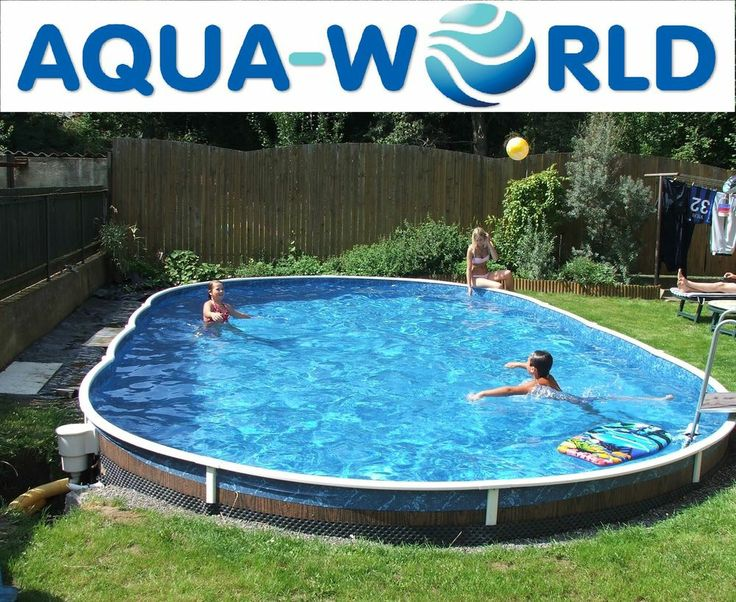 Aqua world above ground 30ft x 15ft oval swimming pool ground pools oval above ground pools for Large above ground swimming pools