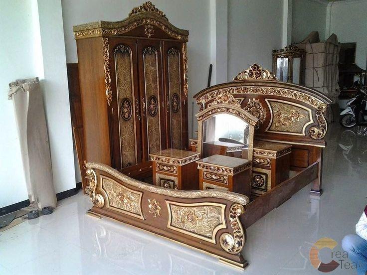harga tempat tidur jepara, perabot kamar tidur utama, design kamar, model tempat tidur satu set, tempat tidur jati jepara