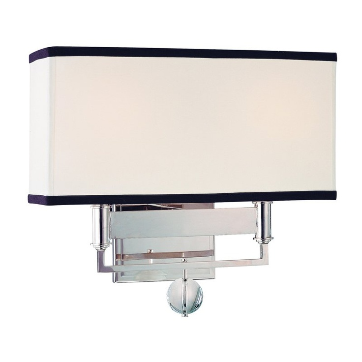 Hudson Valley Lighting 5642 Two Light Up Lighting Wall Sconce With  Rectangular S Polished Nickel Indoor Lighting Wall Sconces Up Lighting