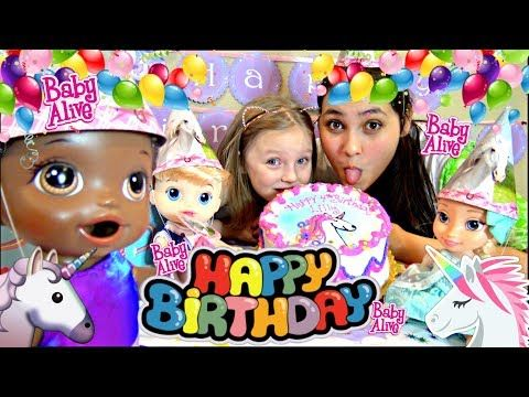 Baby Alive Has A Birthday Party Games And Cake The Lilly And Mommy Show The Toytastic Sisters Youtube Baby Alive Tatty Teddy Birthday