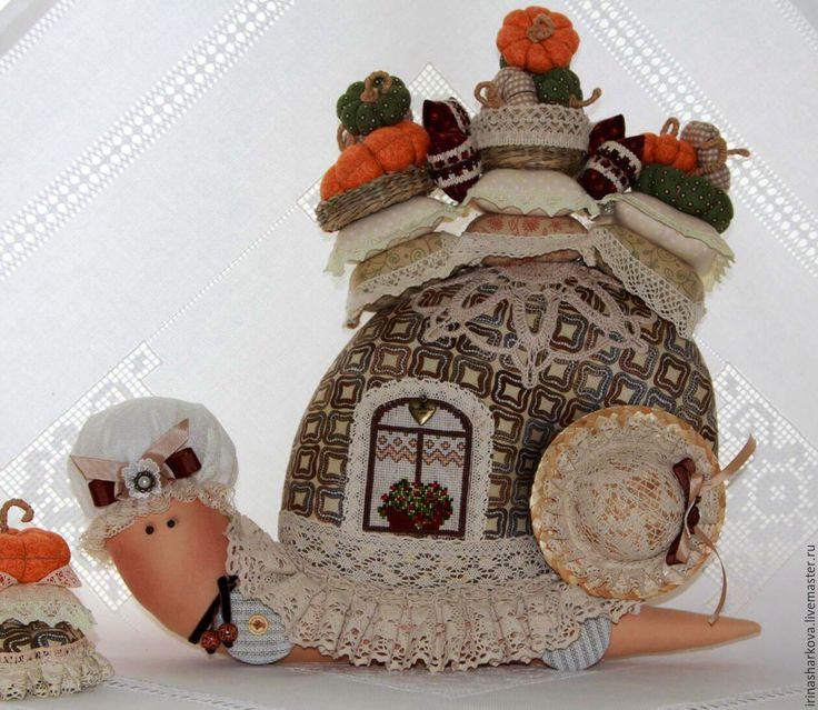 Купить Для СВЕТЛАНЫ ( без МАЛЮСИ )))) - комбинированный, улитка Тильда, интерьерная игрушка