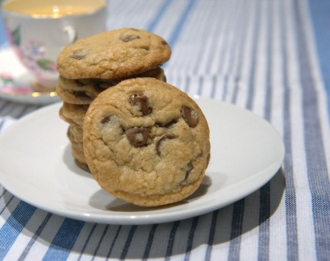 """""""small-batch"""" chocolate chip cookies.  makes 8 cookies and they are delicious :)"""