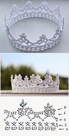 1er challenge de 2017 : une couronne au crochet