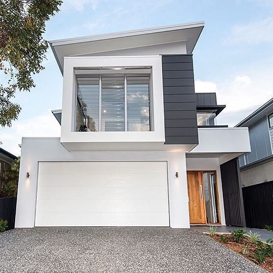 Sleek and modern. Love this look by @kalkahomes in Brisbane. #australianarchitecture #architecture #exterior #exteriordesign #scyonwalls
