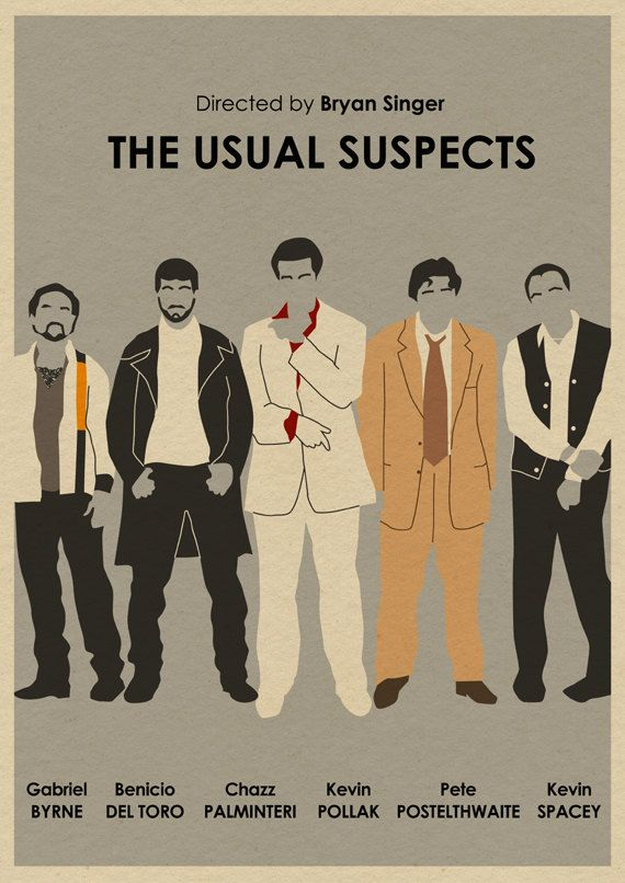 The Usual Suspects 16x12 Movie Poster. $18.00, via Etsy. #movie #poster