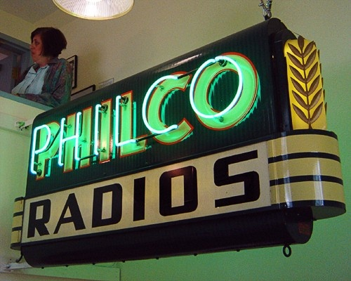 great vintage sign  My Dad's cousin owned an appliance store. I remember my parents buying Philco brand appliances on the installment plan.