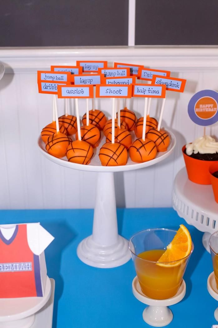 Basketball 1st birthday party planning ideas supplie boy for Basketball craft party ideas