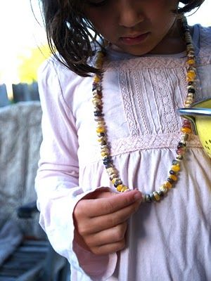 Make an Indian Corn Necklace - The Magic Onions
