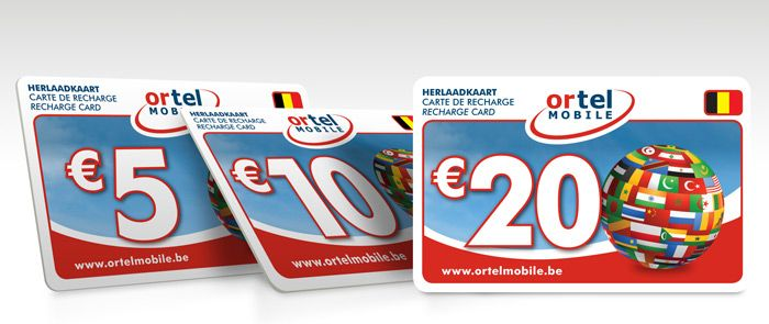 New pre-paid recharge cards for Ortel Mobile
