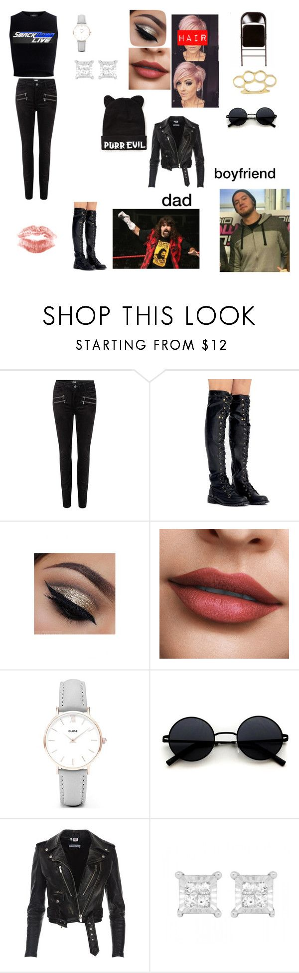 """""""new diva below"""" by walkingdead-daryl ❤ liked on Polyvore featuring WWE, Paige Denim, CLUSE and Theory"""