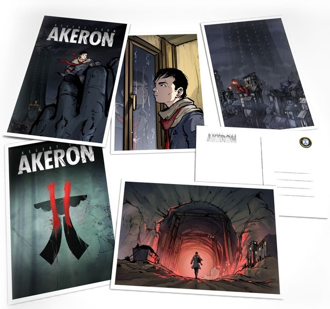What's in it for you? Maybe a #gift Set of 5 #Akeron Postcards...Check us out on #Kickstarter! #submarinechannel #motioncomic #graphicnovel #art #animation