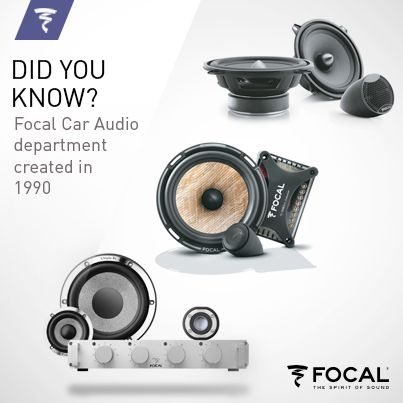 Did you know the Focal #Car #Audio department has been created in 1990? It is composed today of not less than 130 #products, #drivers, #kits or #accessories!
