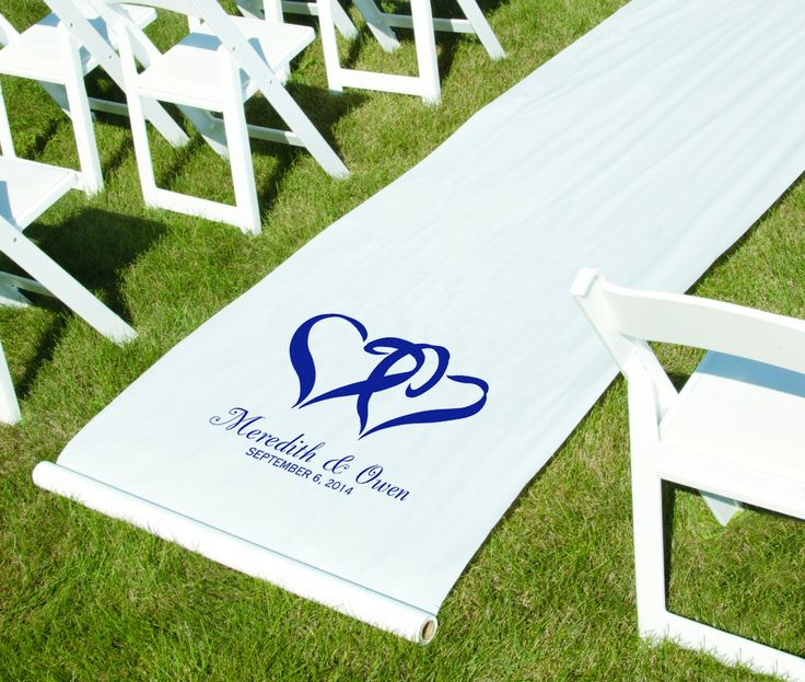 Classic double heart aisle runner a great addition to any wedding.
