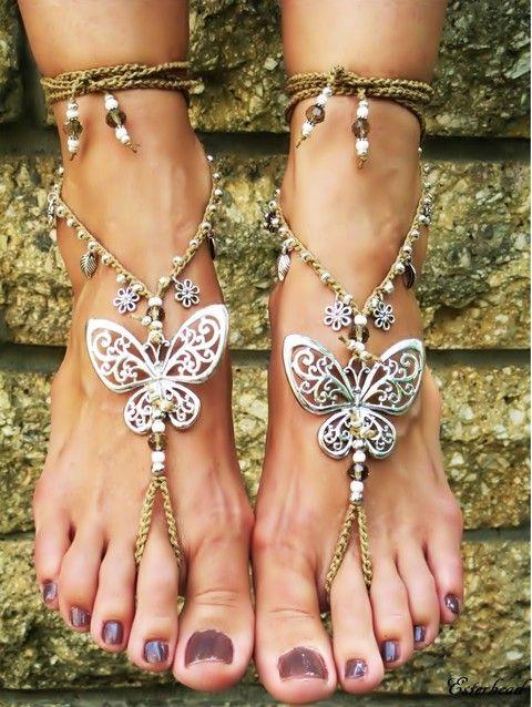 Pillangó - lábékszer, Ékszer, óra, Bokalánc, Ékszerszett, Piercing, testékszer, Ékszerkészítés, Meska