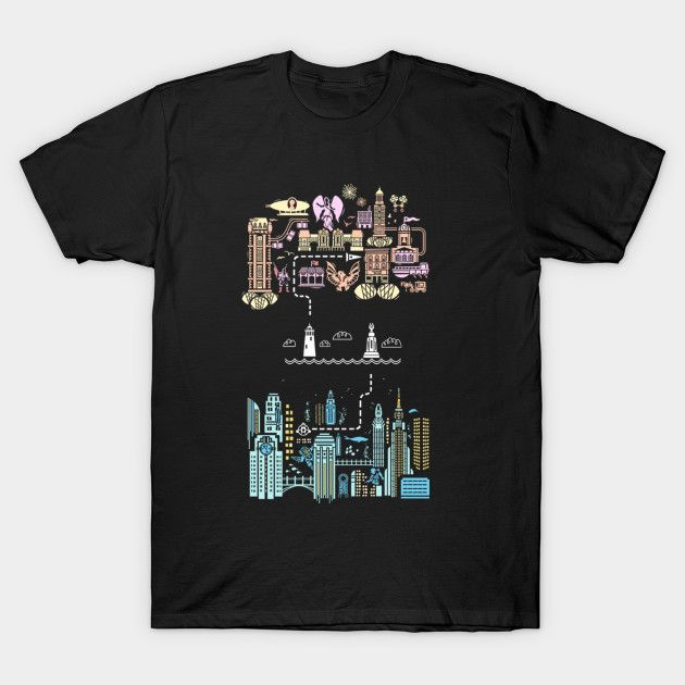 Tale Of 2 Cities - Mens T-Shirt