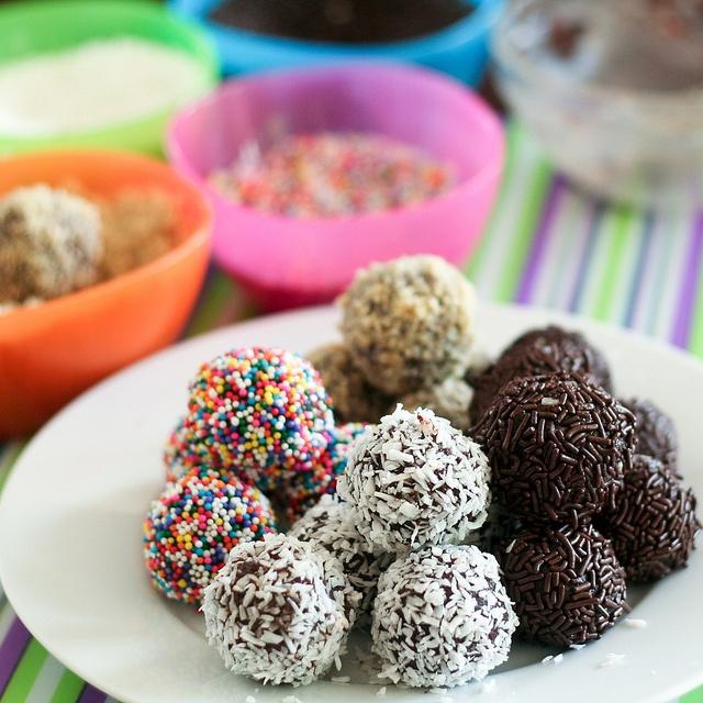Leftover chocolate cake rum balls