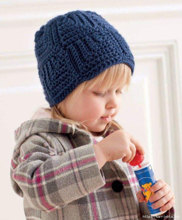 crochelinhasagulhas: Touca infantil de crochê