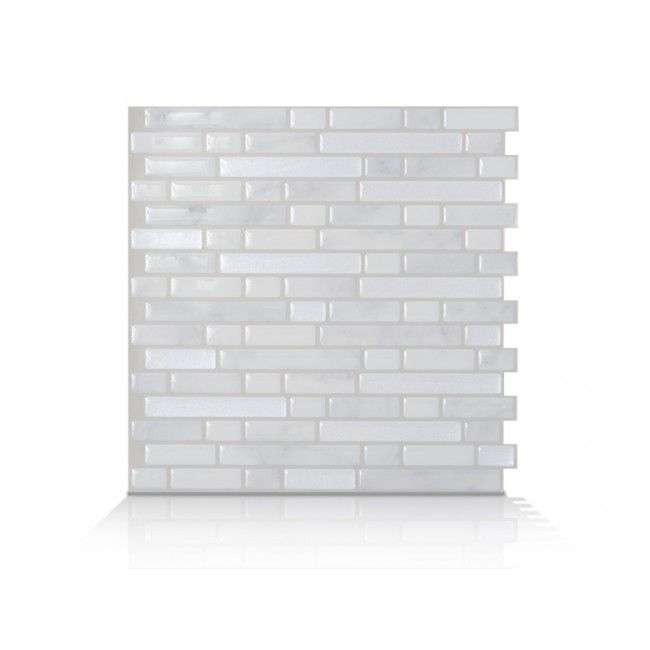 Bellagio Marmo  grey and white marble peel & stick tiles from Smart Tiles.  $8.98 for 10x10 sheet.