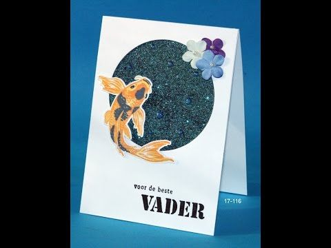 Glitterpaper with Wow! embossing powders and color layering Koi