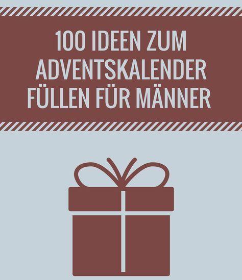 Adventskalender für Männer füllen – die besten Ideen