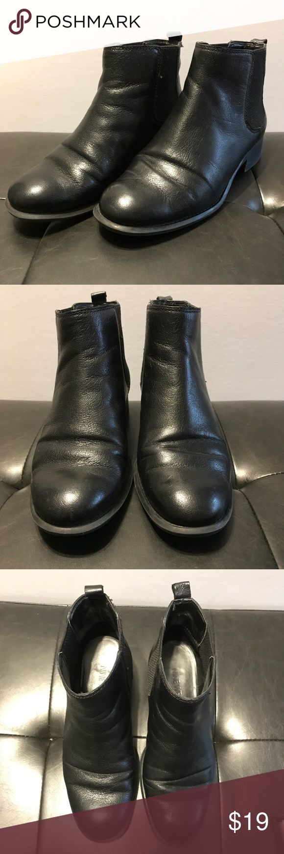 "Nine West Leather Chelsea Boots - Black Nine West - Women's ""Jara"" Leather Chelsea Boots - Black Size US 5 1/2  Slightly Pre-Owned with very little wear. Nine West Shoes Ankle Boots & Booties"