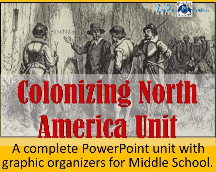 The thirteen colonies was never so easy to teach!  This Colonizing North America Unit contains the following PowerPoint lessons + 27-page graphic organizers:  Finding a Northwest Passage,  Jamestown Colony,  Plymouth Colony,   New England Colonies,   Anne Hutchison & Chief Metacom,   Middle Colonies,   Southern Colonies (part 1),   Southern Colonies (part 2),   Navigation Acts.