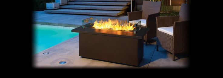 Furniture Diy Outdoor Gas Fireplace Blue Flame With Contemporary Outdoor Gas Fireplace Designs Have Wicker Chairs In Swimming Pool Modern Outdoor Gas Fireplace