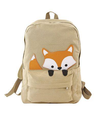 Look what I found on #zulily! Beige Peeking Baby Fox Backpack #zulilyfinds