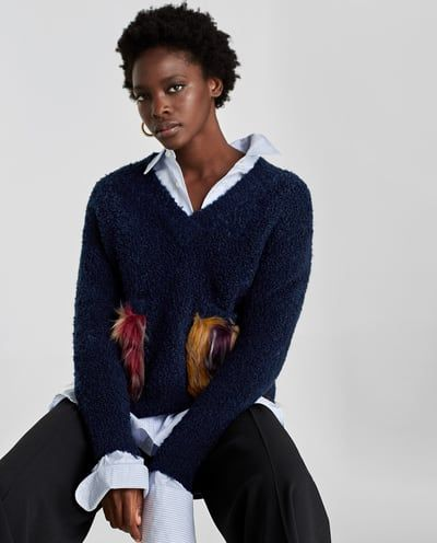 8acd50c72 SWEATER WITH TEXTURED POCKETS - Available in more colours | HannahB