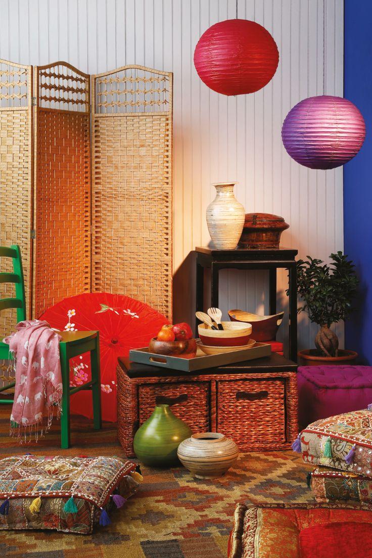 Si tus espacios son reducidos, un #biombo es una muy buena opción al momento de separar tus ambientes. ¡Inténtalo!  #Home #Deco #Easy #Thai #easytienda #tiendaeasy