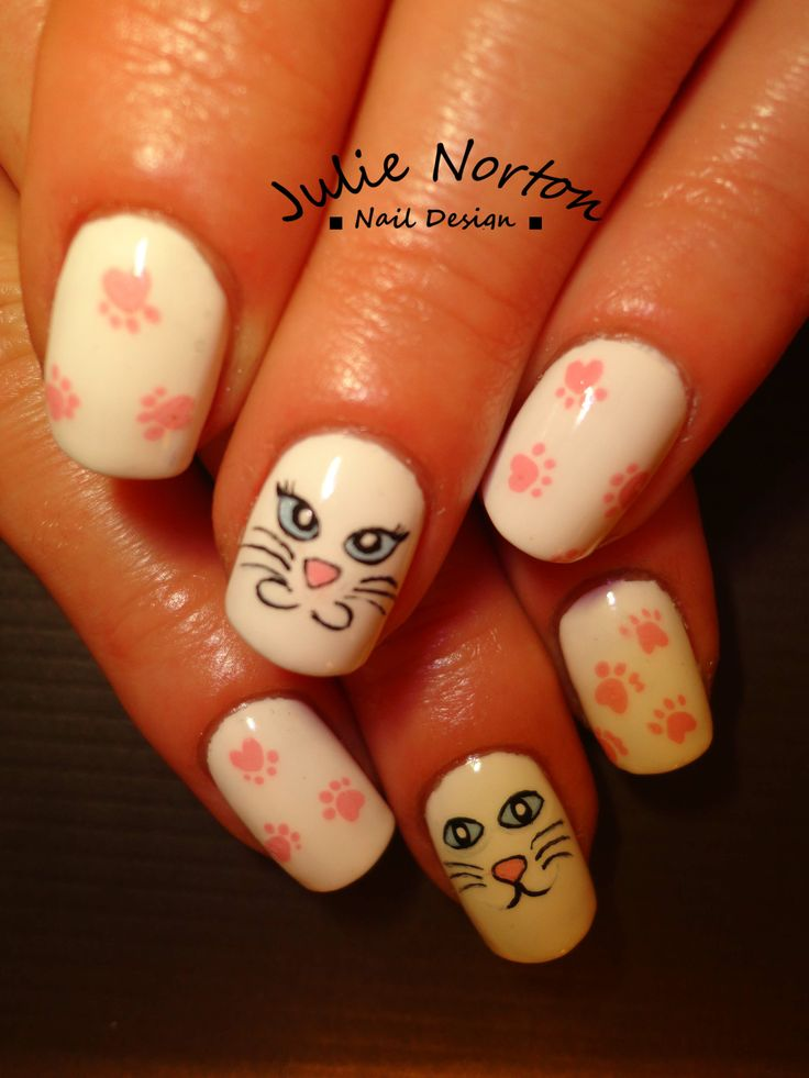 MEOW ! inspired by nails on pinterest :)