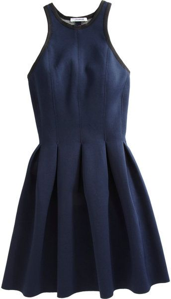 T By Alexander Wang Inverted Pleated Dress in Blue (navy) - Lyst