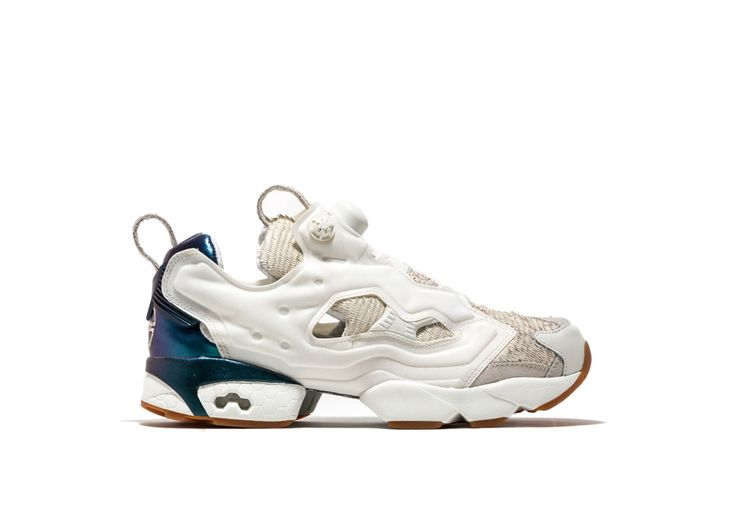 Instapump Fury CNY17 Sneakers color white-instapump fury cny17 sneakers with white feather-effect leather-lined upper. design inspired by the chinese new year and the year of the rooster. eva midsole. abrasion resistant rubber sole. iridescent detailing at heel. purple back patch with logo print. height of sole: 2 cm. height of heel: 3 cm.