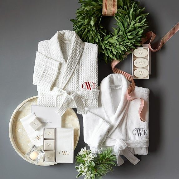 Williams-Sonoma Home Monogrammed Soap & Towel Gift Set | Williams-Sonoma