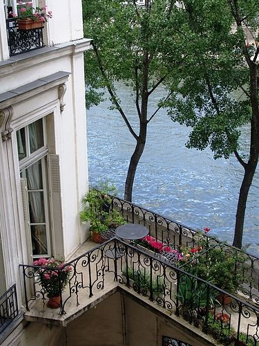 A private terrace overlooking the River Seine...     ᘡղbᘠ
