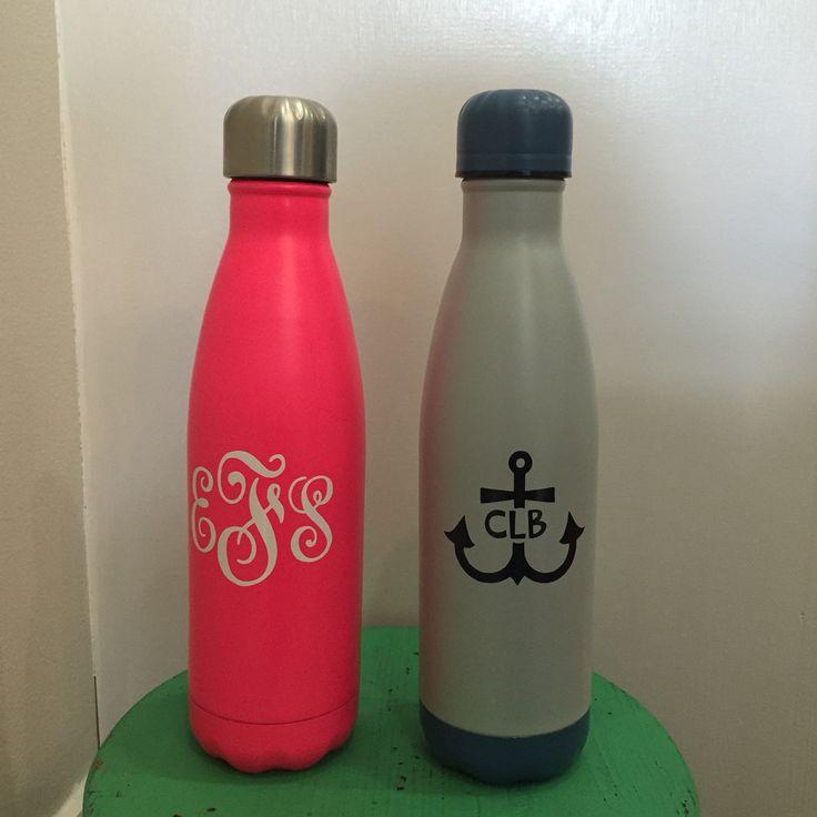 monogram water bottles