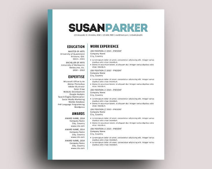 bold resume template free modern templates