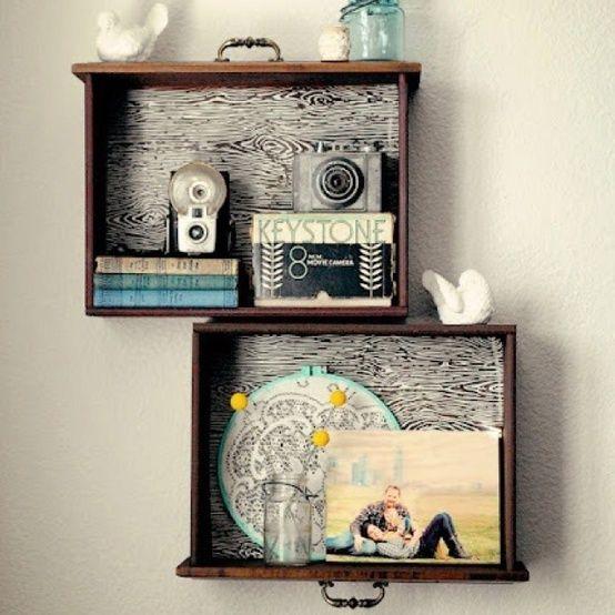 Σπίτι και κήπος διακόσμηση: Diy Κατασκευές και ιδέες διακόσμησης με παλία συρτάρια