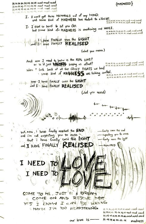 Madness . . . . Muse Love this song!! The base rocks!!