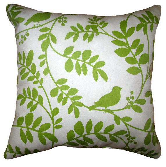Robert Allen Botany Flora Leaf Decorative Throw Pillow