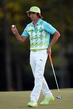 Rickie Fowler, Puma's signature. Lol his outfits ALWAYS crack me up!