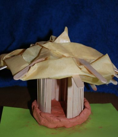 Stone age house model
