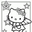 Hello Kitty Coloring Pages with links to other free printables :) Dora, Smurfs, Strawberry Shortcake, Care Bear, Ni Hao Kai Lan, etc
