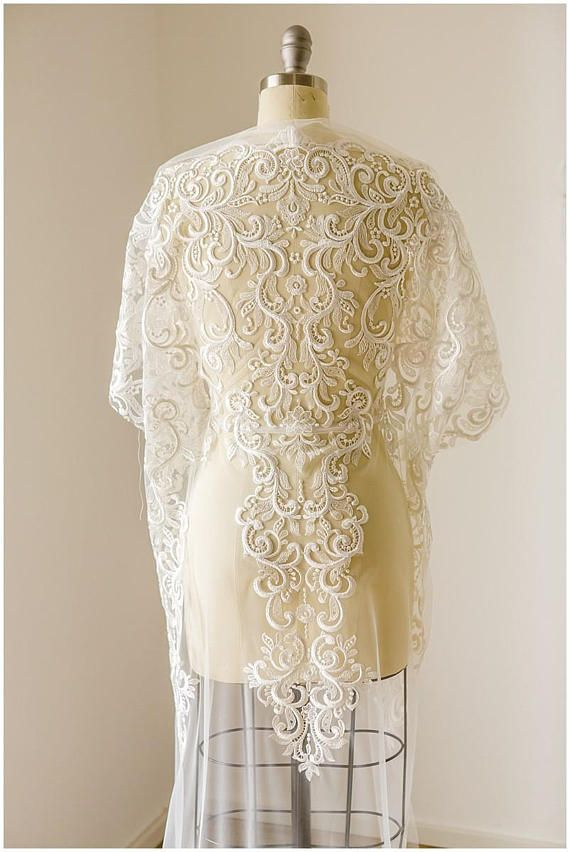 bridal lace fabric heavy embroidered wedding lace fabric
