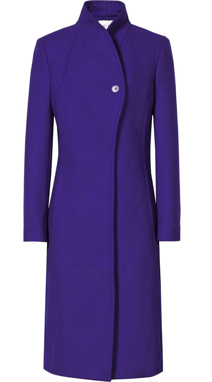 Kate showcased a new addition to her stunning coat collection - the Reiss Emile Sharply Tailored Coat.  2015 Rugby World Cup Pool on September 18, 2015.
